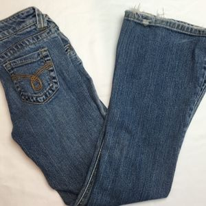 Girls Roxy Boot Cut Jeans Medium Wash
